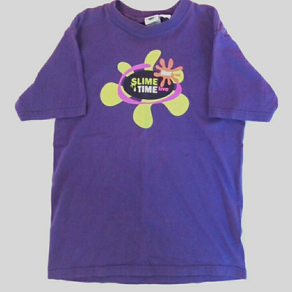 f20a91a95 Nickelodeon Tops | Nick Slime Time Live 90s Vintage Tshirt | Poshmark